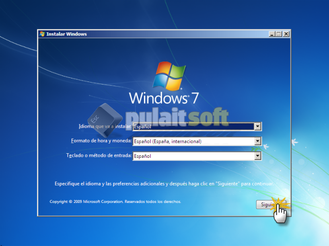Reparar la instalación de Windows 7