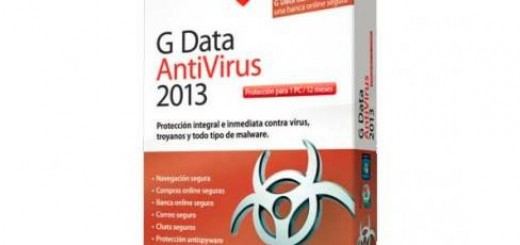 Licencia G Data Antivirus 2013 (1 PC / Anual) por 20 €