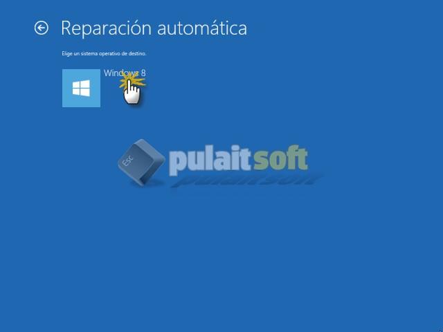 Procedemos a la Reparación automática