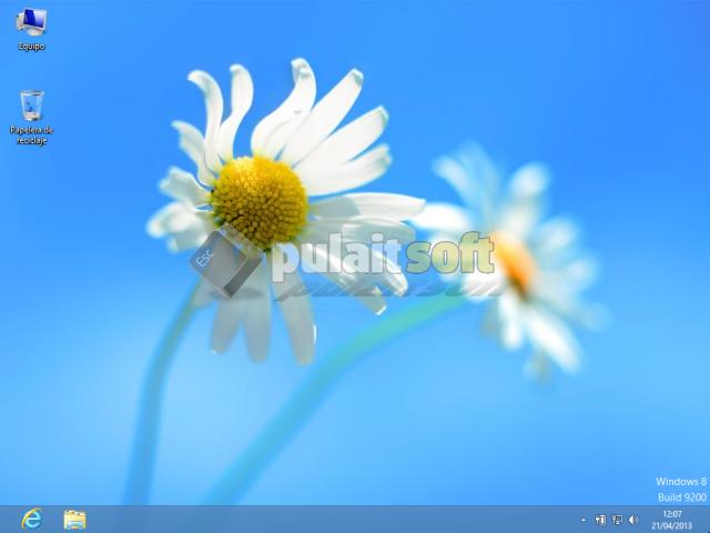 Finalización de la instalación y configuración de Windows 8