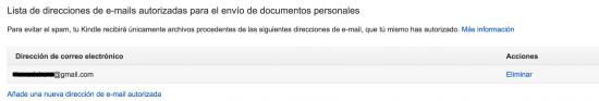 autorizar email