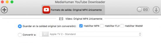 opción vídeo