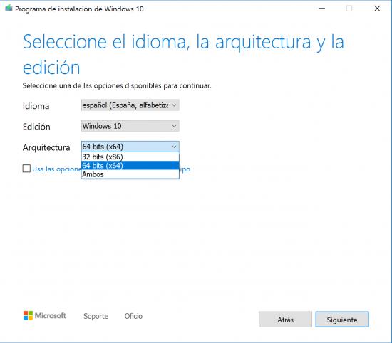 seleccion de idioma y arquitectura